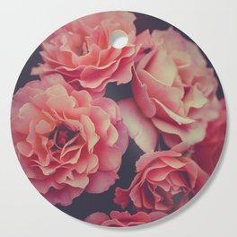 Roses in the night garden Cutting Board