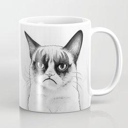 Grumpy Simmons Cat Whimsical Funny Animal Music Coffee Mug