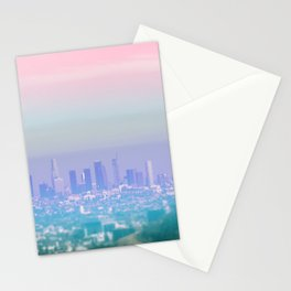 Los Angeles Scenic Southern California Landscape Colored Sun Haze Wall Art Print Stationery Cards