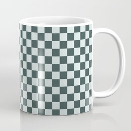 Checkerboard Pattern Inspired By Night Watch PPG1145-7 & Cave Pearl PPG1145-3 Coffee Mug