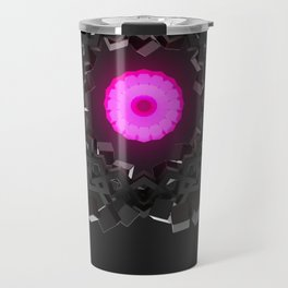 Graphite flower Travel Mug