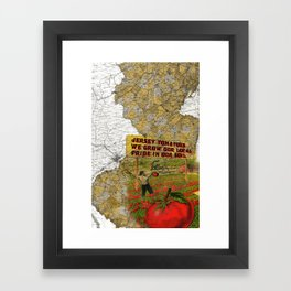 Jersey Tomatoes, We Grow our Pride Framed Art Print