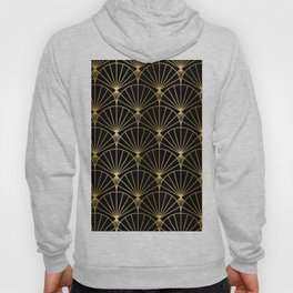 Black and gold art-deco geometric pattern Hoody