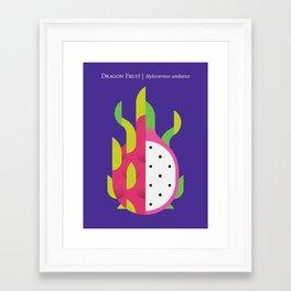 Fruit: Dragon Fruit Framed Art Print