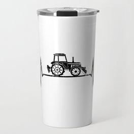 Tractor Heartbeat Farmer Farming Travel Mug
