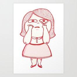Girl Feelings #1 Art Print