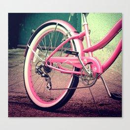 Retro Pink Bicycle Canvas Print