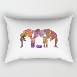 Rugby men players 05 in watercolor Rectangular Pillow