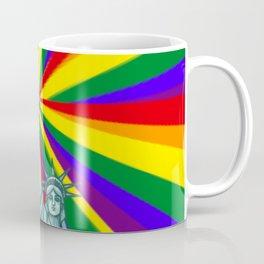 Rainbow liberty NYC GAY PRIDE STONEWALL LGBT Coffee Mug