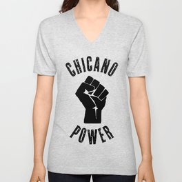 Chicano Power Mexican Mexico Chicanismo Latina Latinx Raza  Unisex V-Neck