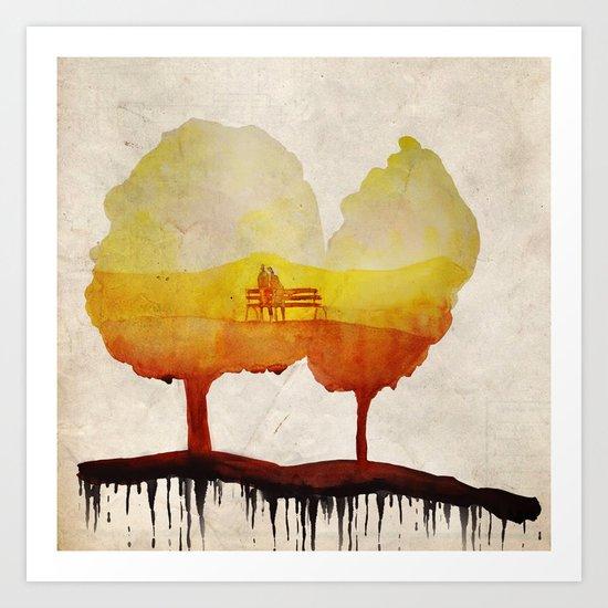 Trees of life Art Print