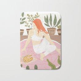 Yoga + Pizza Bath Mat