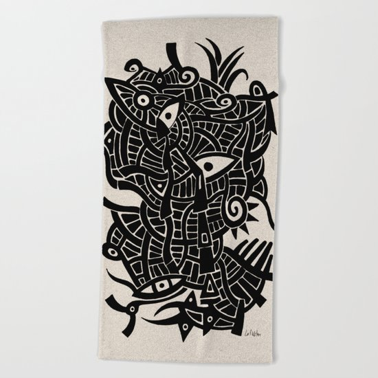 - androgynous fish - Beach Towel