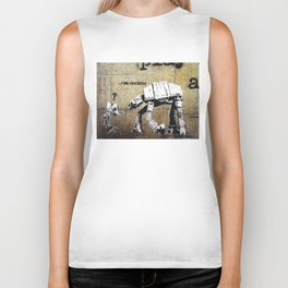 Banksy, I am your father Biker Tank