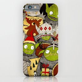 Festive Goblins iPhone Case