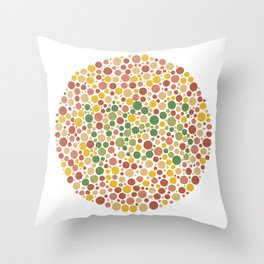 Yes is Colorblind Throw Pillow