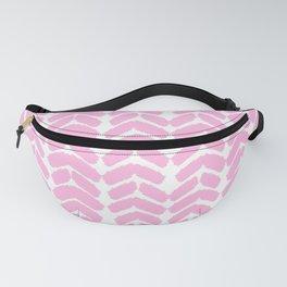 Hand-Drawn Herringbone (Pink & White Pattern) Fanny Pack
