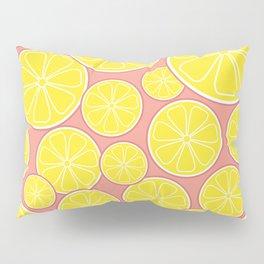 Pink Lemonade Citrus Lemon Slices Pillow Sham