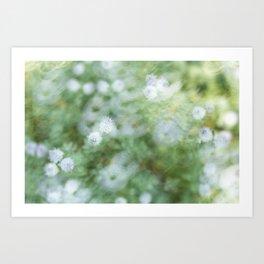 Flowers & Swirl Art Print