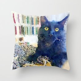 Alfred Watercolor Throw Pillow