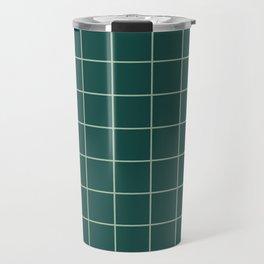 Forest Grid Travel Mug