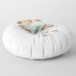 + Watercolor Alpaca + Floor Pillow