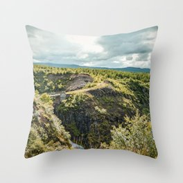 Rivers and Roads Throw Pillow