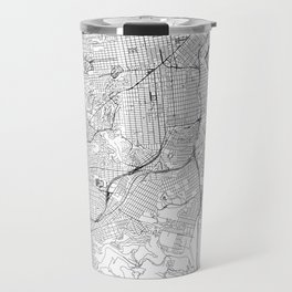 San Francisco White Map Travel Mug