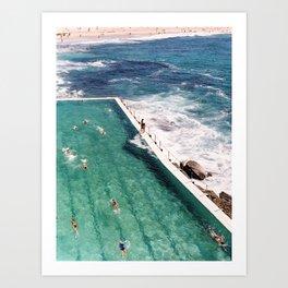 Bondi Beach Icebergs Art Print