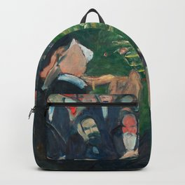 At the Roulette Table in Monte Carlo by Edvard Munch Backpack