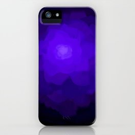 Glowing Blue Rose Emerging from  Darkness iPhone Case