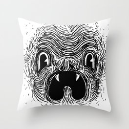 Blahhhh Throw Pillow