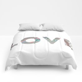 Marbled LOVE Comforters