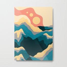 The Blue peaks of summer Metal Print