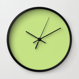 From The Crayon Box – Yellow Green - Bright Green Solid Color Wall Clock