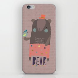 Big Bear and Bluebird Pink iPhone Skin