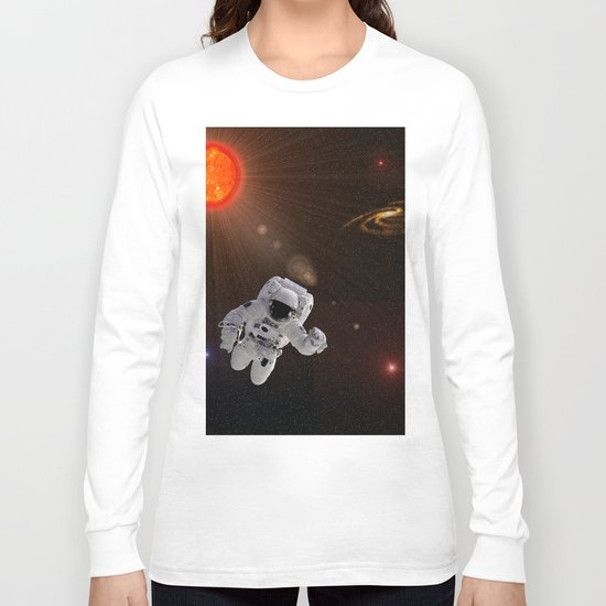 Astronaut Sun Stars Long Sleeve T-shirt