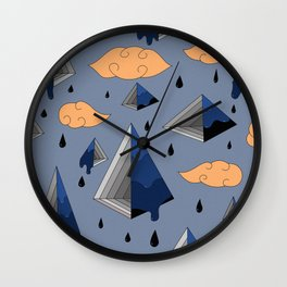 Blue Py Wall Clock