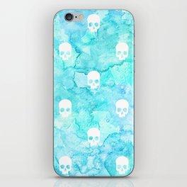 Watercolor sea with skulls iPhone Skin