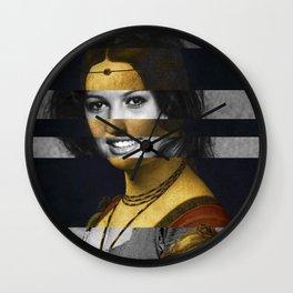 """Leonardo Da Vinci """"Belle Ferronniere"""" & Claudia Cardinale Wall Clock"""