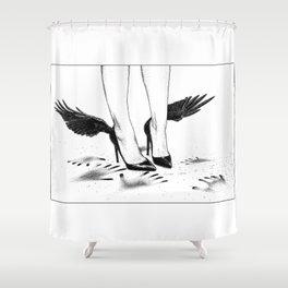 asc 870 - Le plafond de verre (Hands and wings) Shower Curtain