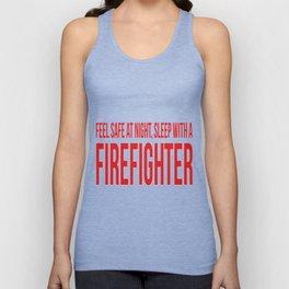 Firefighter Feel And Sleep Unisex Tank Top