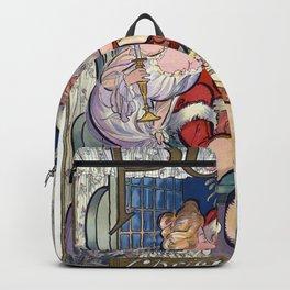 Santa under the misteltoe - Puck 1902 Backpack