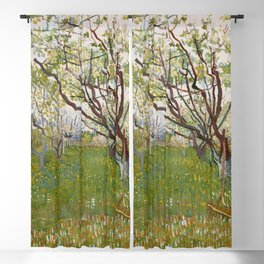 Vincent van Gogh - The Flowering Orchard (Cherry Tree) (1888) Blackout Curtain