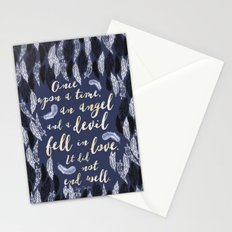 Daughter of Smoke and Bone quote design Stationery Cards