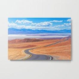 Along the Desert Road Metal Print