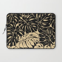 Black and gold palm Laptop Sleeve