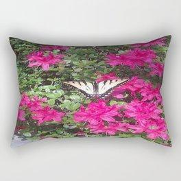 Butterfly on Azalea Rectangular Pillow