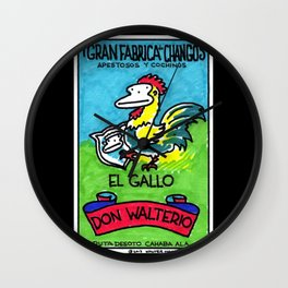 Loteria Ape #1: El Gallo Wall Clock