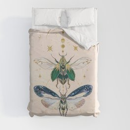 Moon insects Duvet Cover